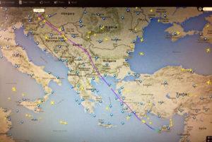 Bruce's flight tracked live