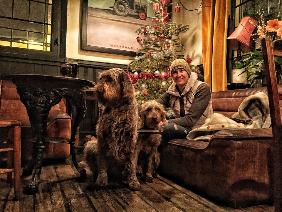 Christmas time in a London pub